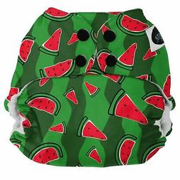 Imagine Baby Products Pocket Snap Diaper, Watermelon Patch N