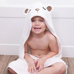 Premium Baby Hooded Towel and Washcloth Set for Baby Girl or