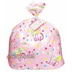 BABY SHOWER Polka Dots Pink JUMBO PLASTIC GIFT BAG ~ Party S