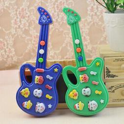Portable Kids Plastic Guitar Electric Musical Toy Toddler Mu