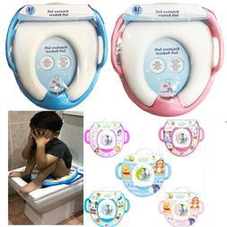Potty Seat Kids Training Toilet Padded Toddler Child Soft Cu