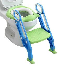 Potty Toilet Trainer Seat with Step Stool Ladder Adjustable