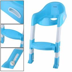 Potty Trainer Toilet Seat Chair Kids Toddler & Ladder Step U