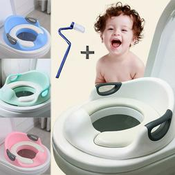 Potty Training Seat For Kids Girls Toilet Seat With Cushion