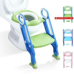 Potty Training Toilet Seat With Step Stool Ladder For Kid An