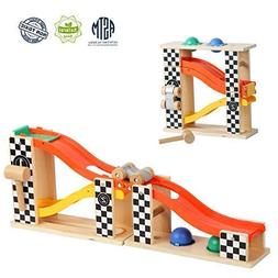 TOP BRIGHT Pound and Roll Tower Wooden Toys for 1 2 Year Old