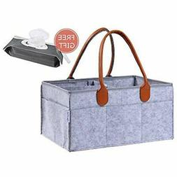 Premium Diaper Caddy + Free Refillable Wipes Pouch By Cooper