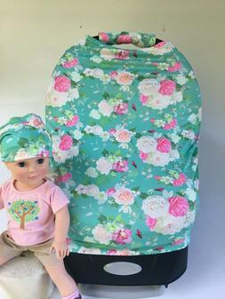Premium Multi-Use Car Seat Canopy Nursing cover baby Beanie