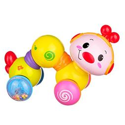 Coolecool Press and Crawl Cute Creeping Worm Baby Toys 6 to