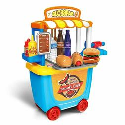 Pretend Educational Toys for Toddlers,Food Truck for Kids Ho