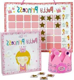 Princess Potty Training Gift Set with Book, Chart, Star Magn