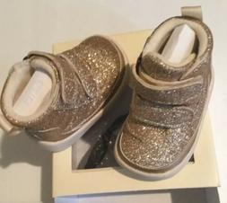 Ugg Australia Pritchard Sparkles Baby Girl Boots Gold Size 0