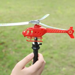Pull String Helicopter Creative Flight Plane Gift Toy for To
