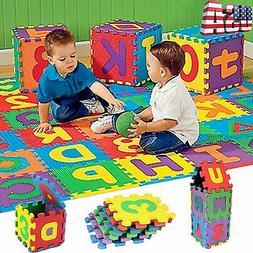 36PCS Puzzle Kids Baby Toy Alphabet A-Z Letters Numeral Soft
