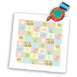 3dRose qs_20358_1 Baby Jungle Animals Alphabet Print Quilt S