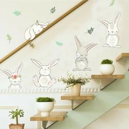 Cute Rabbit Wall Sticker Lovely Style Decal For Girls Boys R