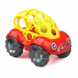 ZHFUYS Rattle & Roll Car,6 to 12 Months Baby Toys 5 inch b