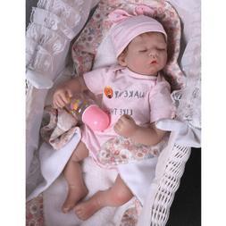 Real Life Reborn Newborn Lifelike Body Soft Vinyl Silicone B