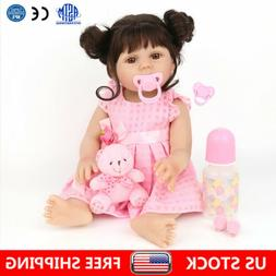 Reborn Baby Dolls Full Body Vinyl Silicone 18in Lifelike Dol