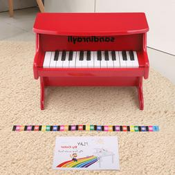Red 25 Key Kids Toddler Electric Mini Piano Toy Musical Inst