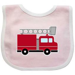 Inktastic Red Firefighter Fire Truck Baby Bib Firetruck Figh