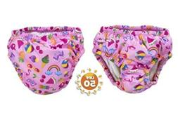 Lot of 3 Swim School Reusable Swim Diapers 6 mo 10-18 lb siz