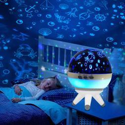 RGB Led Projector Night lights Household Baby Nursery Desk L