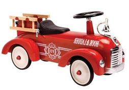 Ride On Kids Toy Car Metal Speedster Fire Truck Gift for Tod