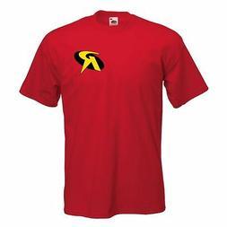 Robin  T shirt Logo Classic Comic Superhero Mens Childrens