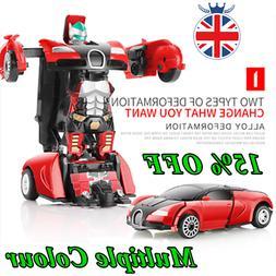 Robot Car Transforming Kids Toys Toddler Vehicle Cool Toy Fo