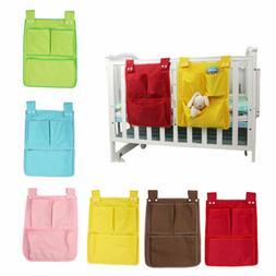 Rooms Nursery Hanging Storage Bag Diaper Pocket For Baby Cri