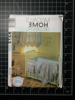 McCall's #8373 ~ Pattern Nursery Curtain Bumper Comforter Ba