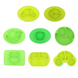 Safety Baby Cute Silicon Bowl Tableware Food Tray Toddler Fe