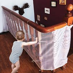 Winkeyes Children Safety Rail Balcony Stairs Safety Net Bani