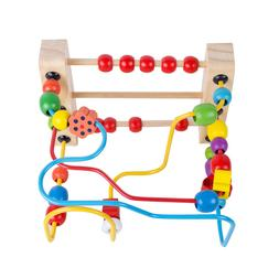 Safty Wooden Baby Toddler Toys First Bead Maze for Boy/Girl/