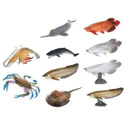 Sea Animals Figure Toy Educational Shower Bath Toys Gift for