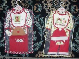 Baby Gear Set 5pc Christmas Set Elf Reindeer Unisex 0-3 3-6