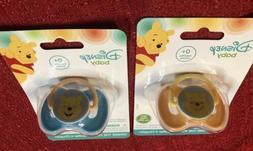 SET OF 2 Disney BABY PACIFIERS - Winnie The Pooh - BPA FREE