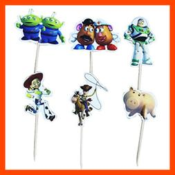 Set Of 24 PC Toy Story Themed Decorative Cupcake Topper For