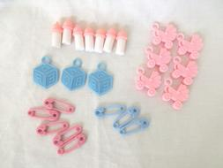 Set of 24 Pieces Assorted Plastic Baby Shower Charms Pink St