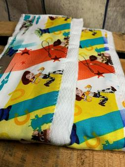 Set of 3 Baby Boy Girl Toy Story Cloth Diaper Burp Rags 100%