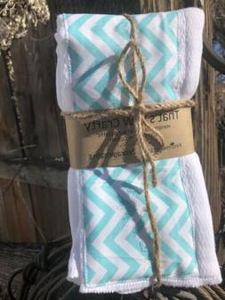 Set of 3 Baby Girl Boy Polka Anchor Cloth Diaper Burp Rags 1