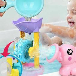 Set Of Child Baby Swimming Bath Toys Elephant Watering Pot K