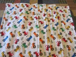 Set of Four Boy White with Multicolored Tractor Double-sided