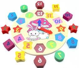 Educational Learning Sorting Clock Puzzle Toy for Toddlers B