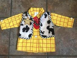 Disney Baby Sheriff Woody Costume Shirt 3-6 Months Toy Story