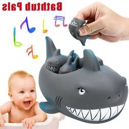 Shrilling Rubber Cute Shark Family Bathtub Pals Floating Bat