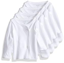 Carter's Unisex Baby 4 Pack Side Snap Tees  - White - 3M
