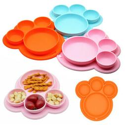 Silicone Placemat Small Food Mat Dish Tray Plate Kid Baby To