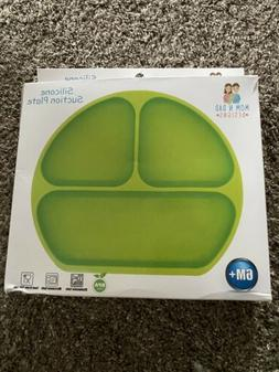 Silicone Suction Grip Divided Dish Baby Toddler Plate, BPA F